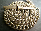 Antique Chunky Graduated Gold / Silver Tone Albert Pocket Watch Chain