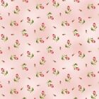 Fabric Flowers Roses Ditsy on Pink Flannel by the 1 4 yard BIN