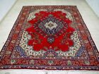 8X11 1940's AUTHENTIC HAND KNOTTED 70+YRS ANTIQUE WORN WOOL TABRIZ PERSIAN RUG
