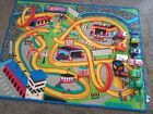 Mattel Hot Wheels Racetrack Play Mat Rug Great Shape With 8 Large Assorted Cars