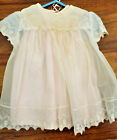 VINTAGE BABY CHRISTENING DRESS/EMBROIDERED ORGANZA