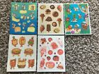 Lot Of HTF Darling Vintage 80s Scratch  Sniff Hallmark Sticker Sheets Coconut