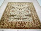 8X11 BREATHTAKING MINT NEW HAND KNOTTED SUPERB WOOL IVORY OUSHAK ORIENTAL RUG