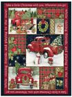 Christmas Red Truck Christmas Fabric Panel By Springs Creative Fabric