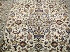 10X7 BREATHTAKING MASTERPIECE MINT PERFECT 200KPSI IVORY KORK KASHAN PERSIAN RUG