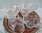 [6] Anchor Hocking Prescut Punch Bowl Cup Clear Pressed Glass Vintage