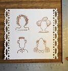 Rubber Stamps FACES Kidstamps 4 PC Set Crafts Card Making Scrapbooking