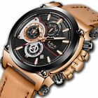 Watches for Men,LIGE Mens Chronograph Waterproof Sports Analog Quartz Watch Gent
