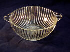 Vintage 1940's Pressed Glass Nut Bowl with Tab Handles
