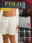 New NIP Polo Ralph Lauren Men Woven Boxers 3 Pack Size L Reinvented
