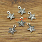 50 Starfish Charms Beach Ocean Charm 2 Sided Charms Antique Silver 13x16 3120