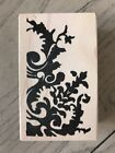 MEMORY BOX WOOD RUBBER STAMP VINTAGE SCROLL E1388