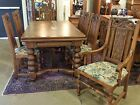 8 Tall Chairs 1920s 10.5 Ft LONG with Leaves