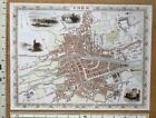 Old Antique colour map of Cork, Ireland: 1800's, 1851 12