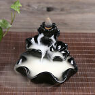 Chinese Lotus Porcelain Backflow Ceramic Cones Incense Burner Holder Buddhist