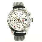 CHOPARD MILLE MIGLIA 8992 AUTO WHITE  DIAL S.S. GMT CHRONO WATCH FOR REPAIRS