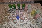 Huge Lot Of 34 Vintage Mid Century Drinking Glasses tumblers Great  For Resale