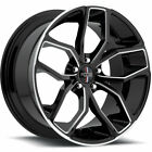 Foose Outkast F150 20x85 5x1143 5x45 +35mm Black Wheels Rims F150208565+35