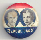 1924 Coolidge & Dodge REPUBLICAN X Pin Pinback Button w/ Backpaper