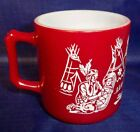 Hazel Atlas Kiddie Ware Indian Mug - Flashed Red Vintage
