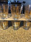 Georges Briard Golden Celeste Double Old Fashion Glasses Set Of (6)