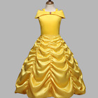 Princess Belle Yellow Off Shoulder Layered Costume Dress Little Girl 2 10 Years