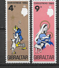 GIBRALTAR , 1968 , CGRISTMAS , SET OF 2 , PERF , MNH
