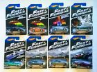 2013 HOT WHEELS FAST  FURIOUS Complete Set of 8 Official Movie Merchandise VHTF