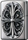 Zippo Lighter METAL CROSS Silver 2SIM-CROZS Japan Model