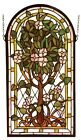 Arched Tree of Life Stained Glass Panel
