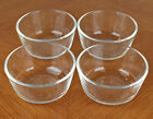 Set of Four Anchor Hocking Fire King Clear Glass 6 oz Ramekin Custard Bowls