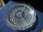 Anchor Hocking Wexford 3-Part Relish Divided Glass Dish Diamond Scallop 8 1/2