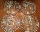 Vintage Glass Snack Plate Set of 4 Luncheon Plates and Cups