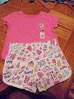 New with Tags Size 4T Shorts and Tee shirt in Pink Unicorns - Back to School