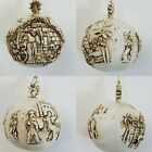 Hand Carved Resin Wood Look Christmas Ornament Nativity Scene Amazing Details 2