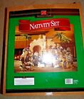 Members Mark X Large 16 PC Hand Painted Fabric Clothing Porcelain NATIVITY Set