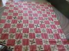 Vintage Handmade QUILT TOP Vintage Cotton Prints 82