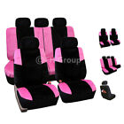 Seat Covers For Auto Car Suv Van Leopard Or Pink 2 Colors Full Seat Covers Set