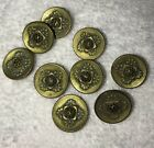 Lot of 3 VICTORIAN ANTIQUE BRASS CUT STEEL METAL PICTURE BUTTON  FIGURAL