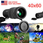 US High Clear 40x60 Optics Monocular DayNight Vision Telescope Sports Hunting
