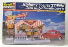 Revell Highway scenes '37 Ford w/ Drive-in diorama Model Kit NIP 1999