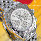 BREITLING CROSSWIND SPECIAL SS 43MM BEAUTIFUL RARE WHITE DIAL MENS WATCH A44355