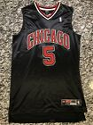Jalen Rose #5 Chicago Bulls Authentic Game Jersey| Size 48 L (Black Red White)