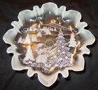 ANTIQUE VINTAGE CHRISTMAS THEME CANDY DISH - 9 1/2