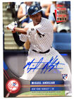Miguel Andujar 2018 Topps National Baseball Card Day RC Auto 115 Yankees Rookie