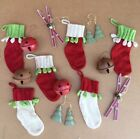 Christmas Ornaments Primitive Country Hanging Ornaments Lot
