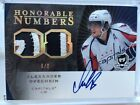 2007-08 UD THE CUP HONORABLE NUMBERS ALEXANDER OVECHKIN AUTO - 8 8 !