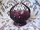 STaR Footed ArT GLaSs Basket Dish Bowl