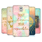 HEAD CASE DESIGNS GOLD QUOTES HARD BACK CASE FOR SAMSUNG PHONES 2
