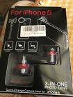 Jackery 3-IN-1 Photo Lens System (Red) for iiPhone 5  Quick Change New Free Ship